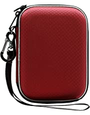 Lacdo EVA Shockproof Carrying Case for Western Digital My Passport Studio Ultra Slim Essential WD Elements SE 1TB 2TB 4TB 5TB USB 3.0 Portable External Hard Drive Travel Case Storage, Large Size Red
