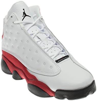 Jordan Retro 13 quot OG White Black-Team Red (Big Kid) ( 57ee40ee8