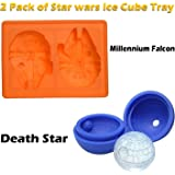 Suitable Star Wars Shape Millennium Falcon and Death Star, Star Wars Silicone Ice Tray Candy Mold Set/Chocolate Molds…
