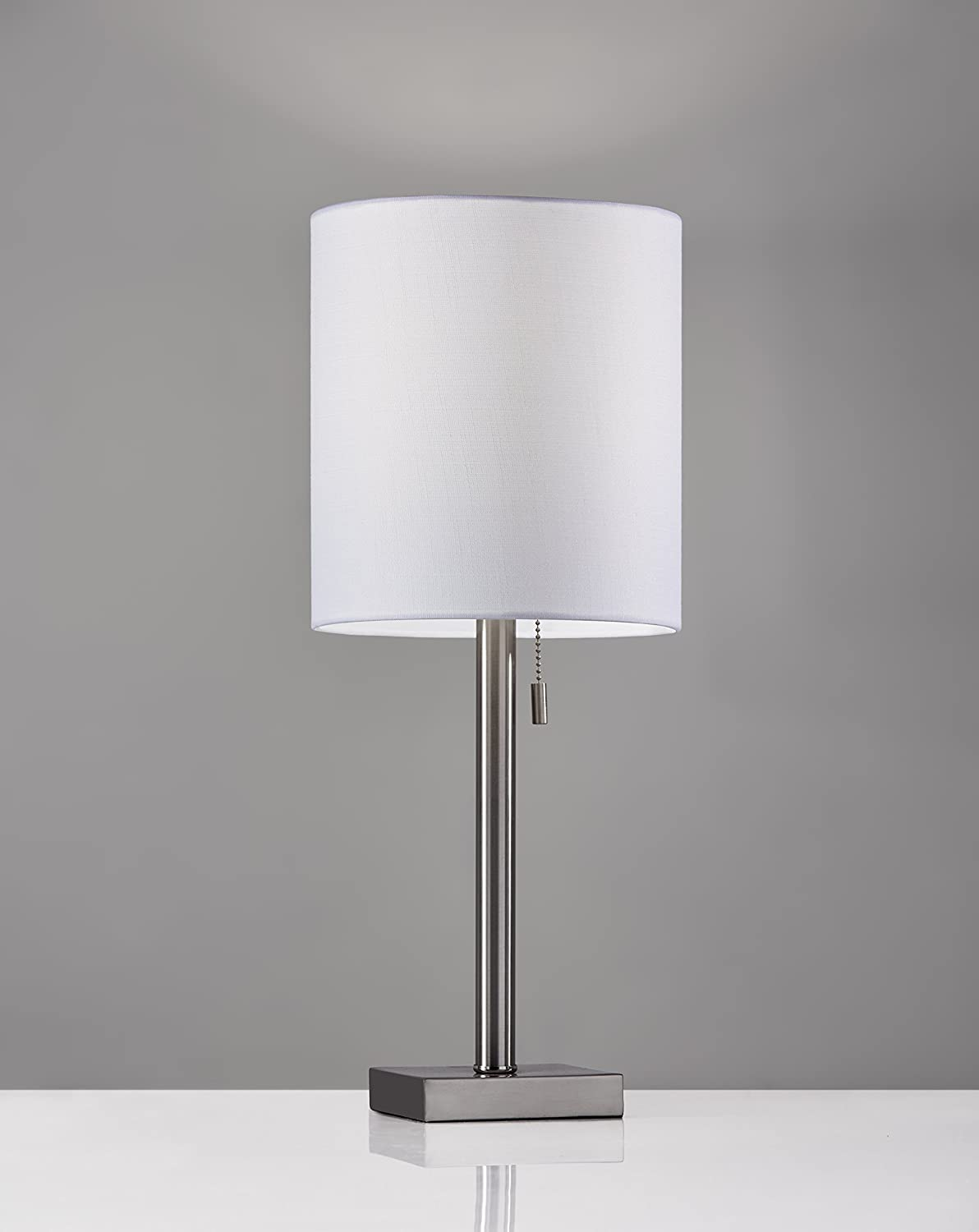 Adesso 1546 22 Liam Table Lamp, Brushed Steel