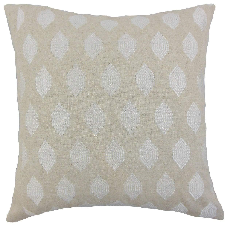 The枕コレクションGal幾何リネンDown Filled Throw枕   B074KSJMSS