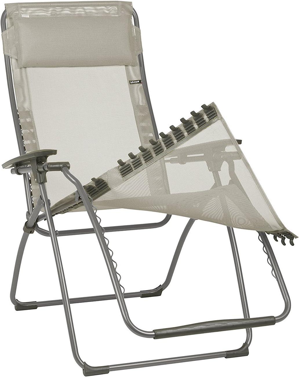 Azzuro LFM2676-8553 Lafuma Tessuto Batyline con poggiatesta per sedia a sdraio Futura Colore