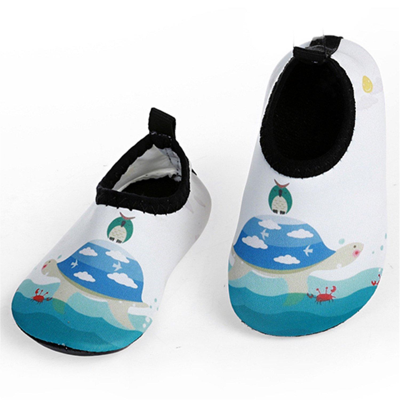 JIASUQI Baby Jungen und Mädchen Barfuß Schwimmen Wasser Haut Schuhe Aqua Socken für Strand Schwimmen Pool JSQ-CT03K
