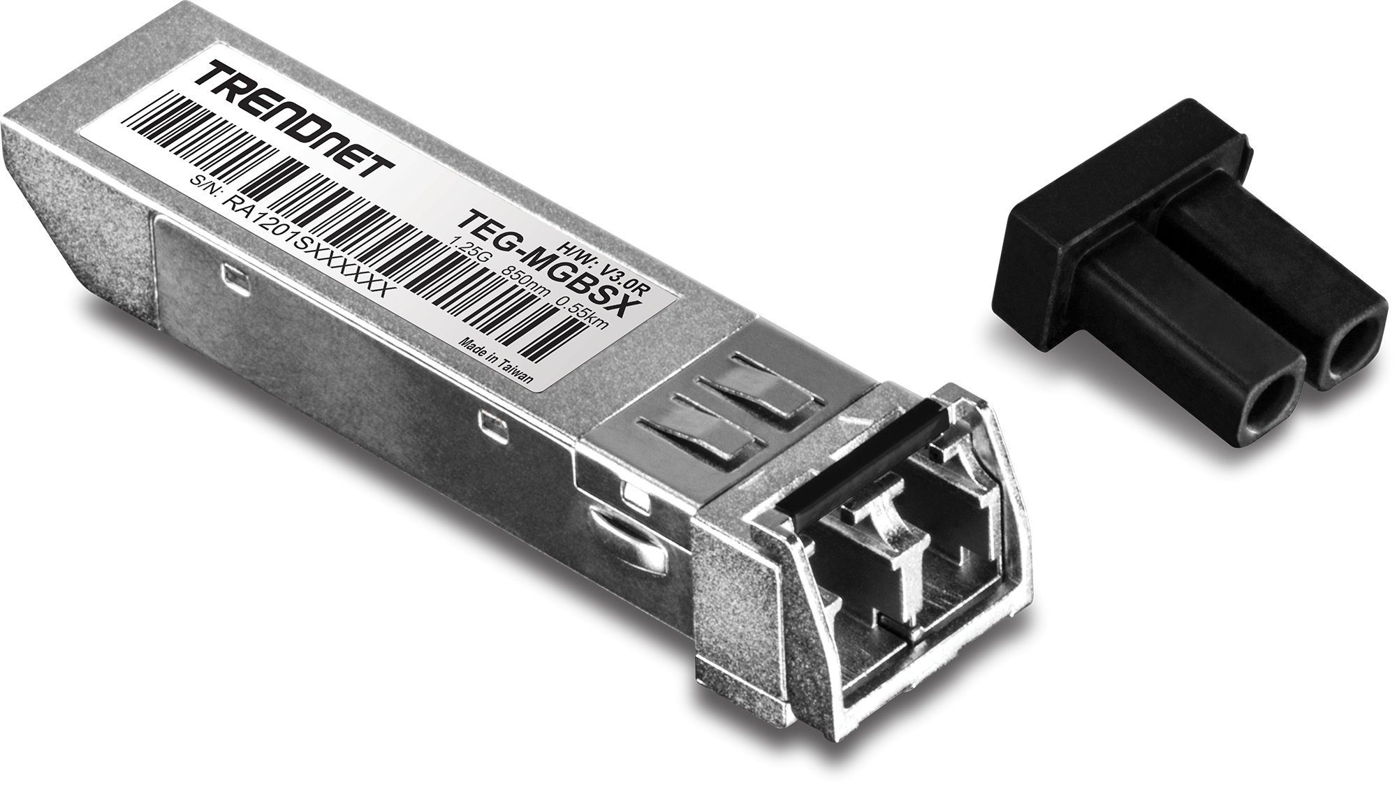 TRENDnet Gigabit SFP LC Module, Multi-Mode, Mini-GBIC, Up to 550 M (1800 ft.), Compatible with Standard SFP Slots, Hot Pluggable, ANSI Fiber Channel Compliant, TEG-MGBSX