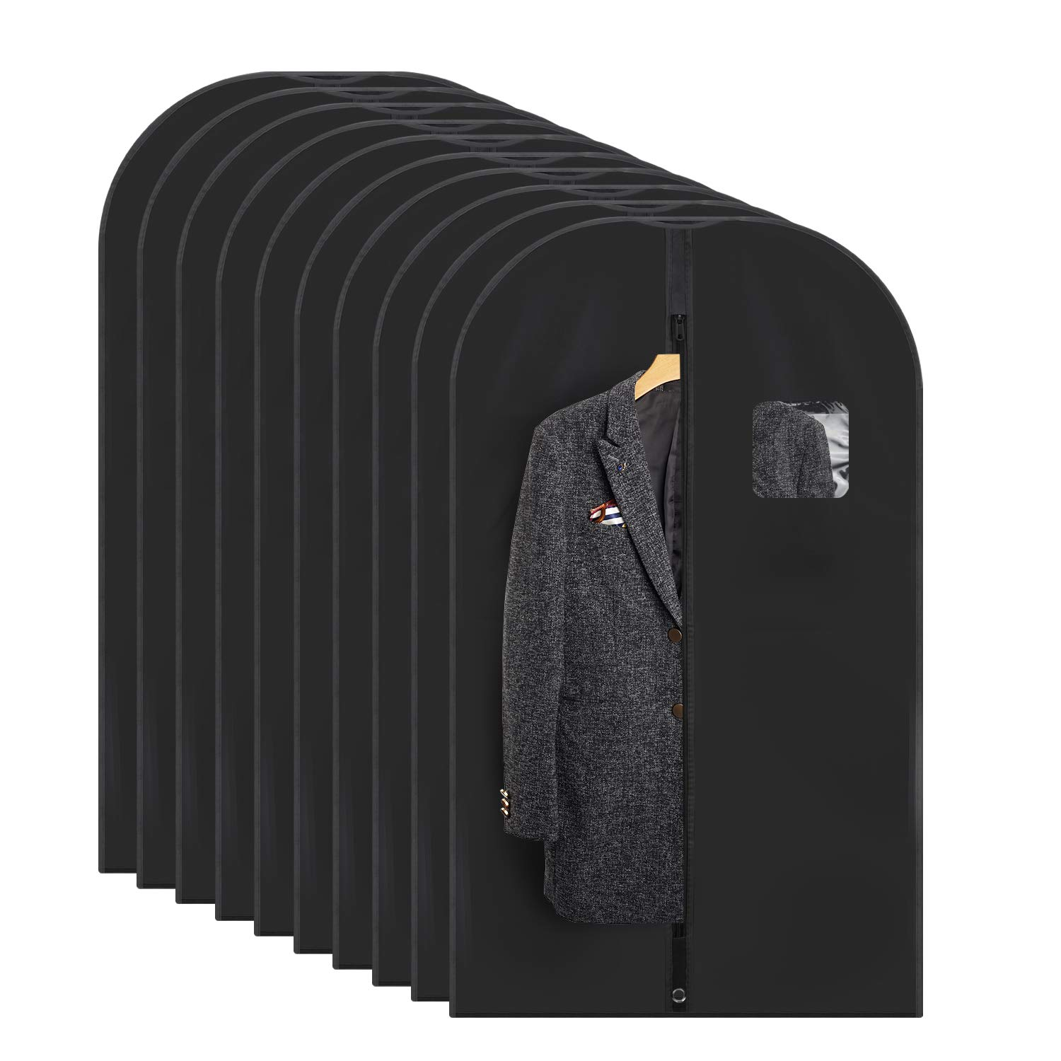 Titan Mall Costume Garment Bag for Travel 42 inch Breathable Garment Cover for Suit and Dress Pack of 10
