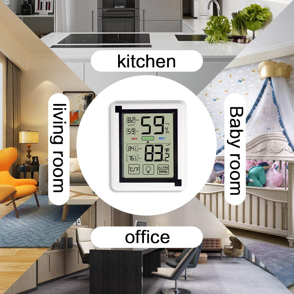 Opard Thermometer Hygrometer innen Innenthermometer Raumthermometer Zimmerthermometer luftfeuchtigkeitsmessger/ät Hydrometer Feuchtigkeit Temperatur und luftfeuchtigkeitsmesser Thermo Hygrometer