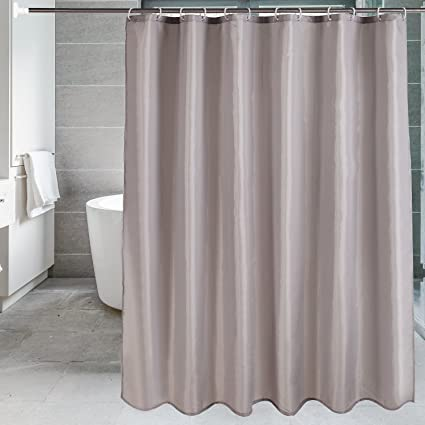Fabric Shower Curtain Liner Set For Bathroom Mildewproof Waterproof Washable Cloth CurtainSolid