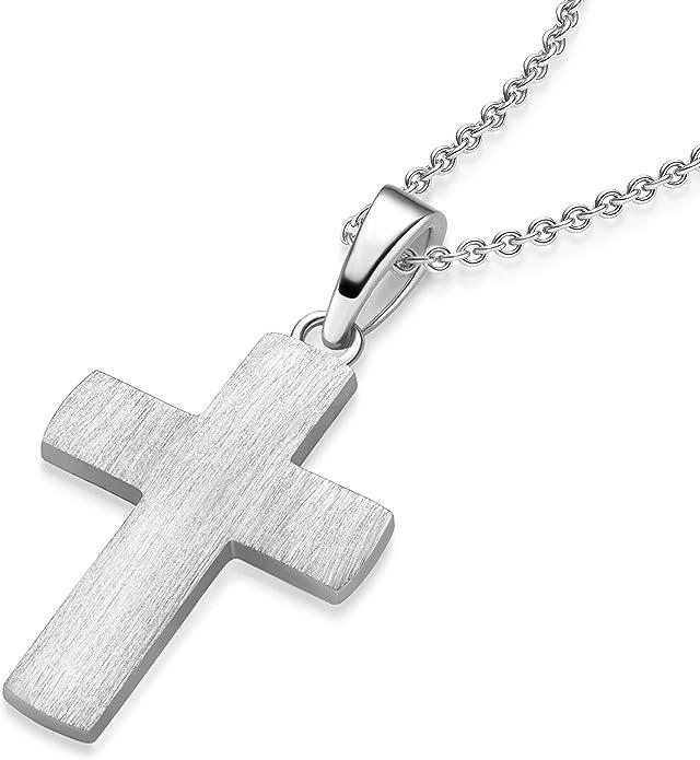 925er Sterlingsilber KREUZ Ketten Anhänger Kommunion Konfirmation Taufe 6345