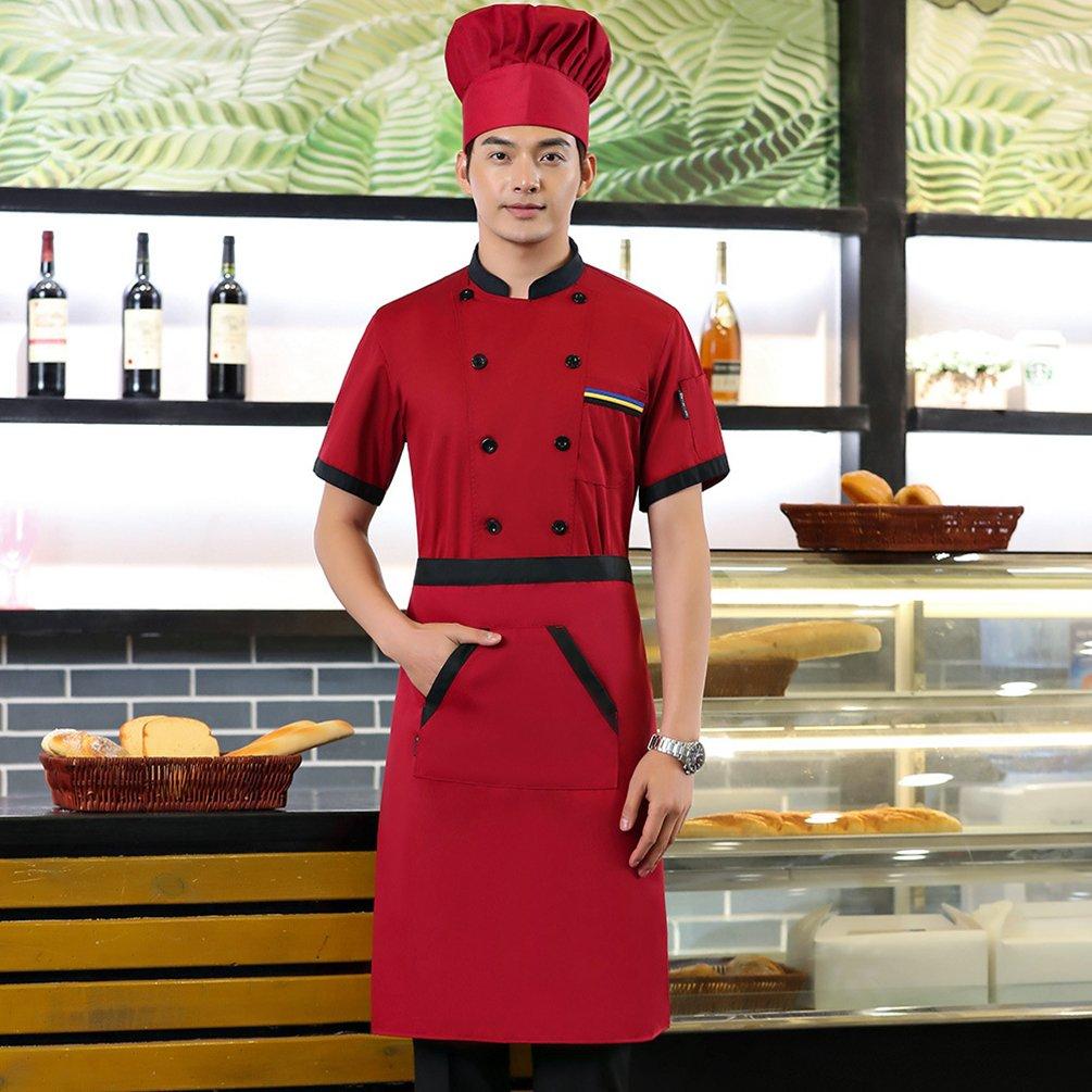 Dooxii Unisex Donna Uomo Estate Manica Corta Giacca da Chef Moda  Traspirante Cucina Mensa Hotel Uniformi Divise da Cuoco  Amazon.it   Abbigliamento b01a42d82c78