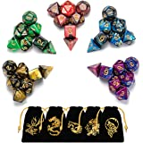 Emango 35 Polyhedral Dice, 5 x 7-Die Series Two Colors Dungeons and Dragons DND RPG MTG Table Games Dice with Free…