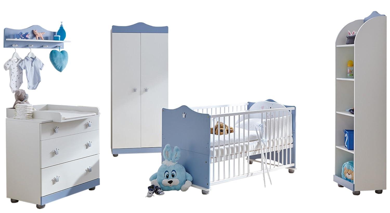TICAA Babyzimmer Prinz 5-teilig Blau