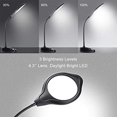 Amazon.com: PSIVEN - Lupa LED, intensidad regulable, 2 en 1 ...