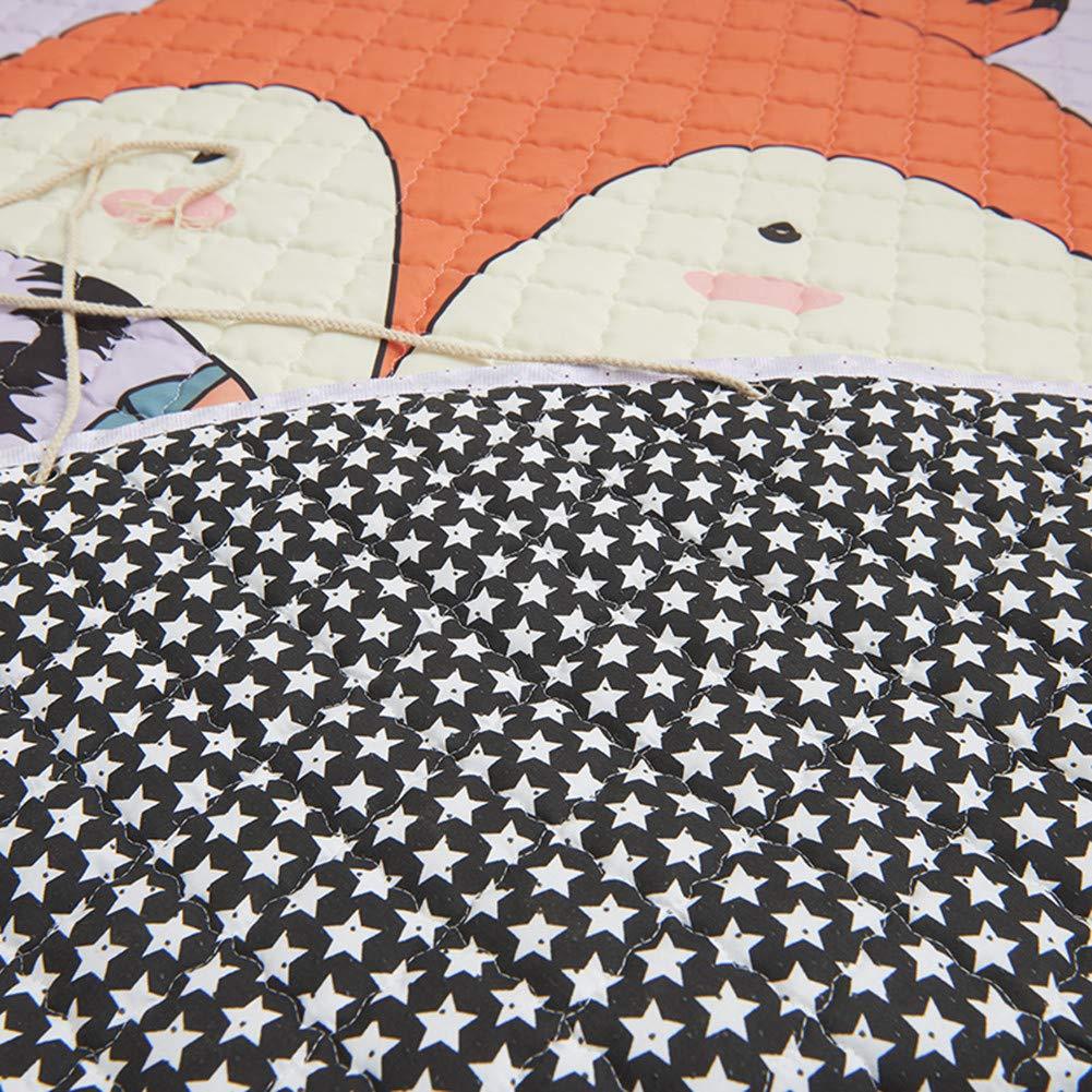 Tapis de Stockage Rond de Tapis Rampants Portatifs avec le Cordon Tapis d/'/éveil jouet pour B/éb/é