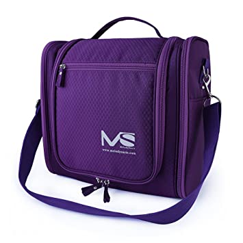 df535ea07f32 Amazon.com   Large Hanging Travel Toiletry Bag - MelodySusie Heavy Duty  Waterproof Makeup Organizer Bag Shaving Kit Toiletry Bag for Travel  Accessories