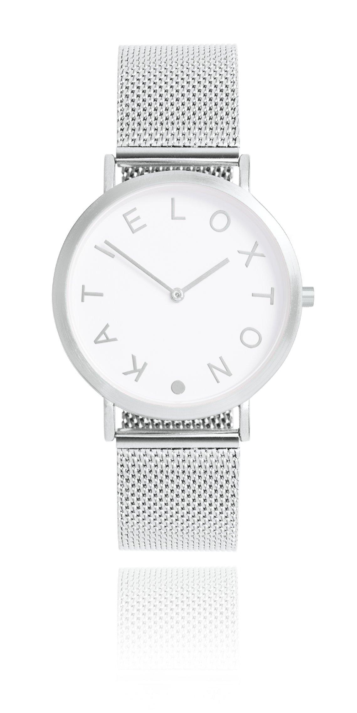 Katie Loxton - Rai Watch - Silver plated Chain Mail Watch