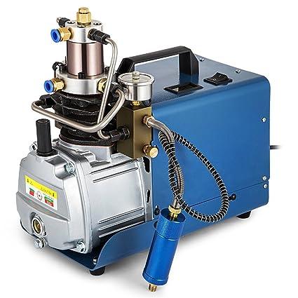 TOPQSC 220V 30MPa 4500PSI Presión Ajustable Compresor de Aire de Alta Presion,Bomba de Compresor
