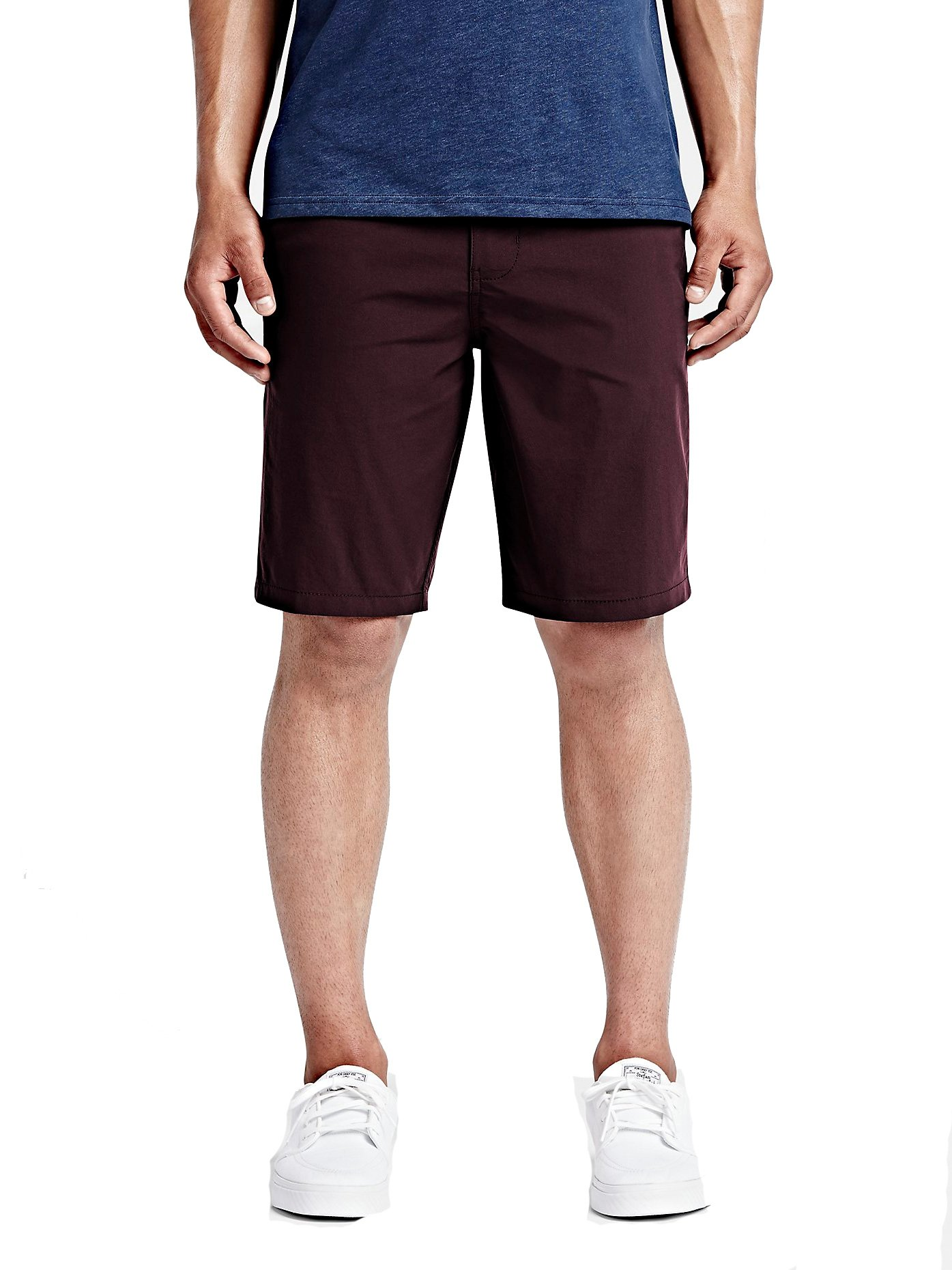 Hurley Men's Dri-Fit Chino Walkshorts, Mahogany, 36