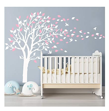 bdecoll nursery wall stickers cherry blossom tree wall decals flying