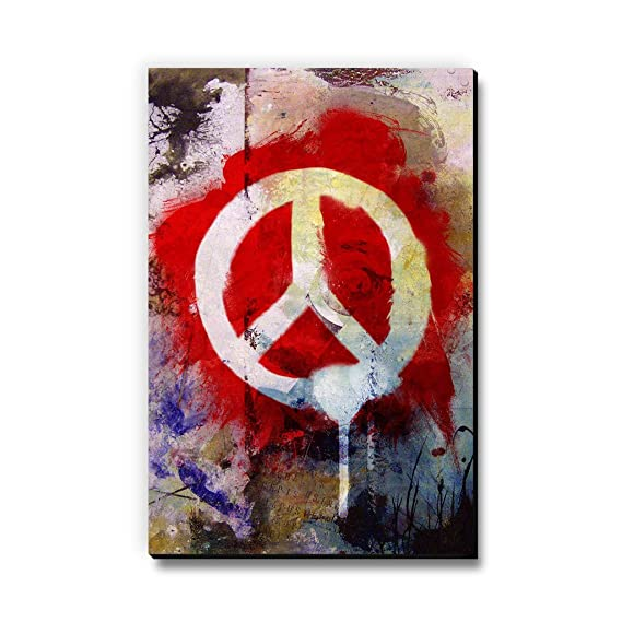 Seven Rays MDF Peace Graffiti Fridge/Multipurpose Magnet  Multicolour