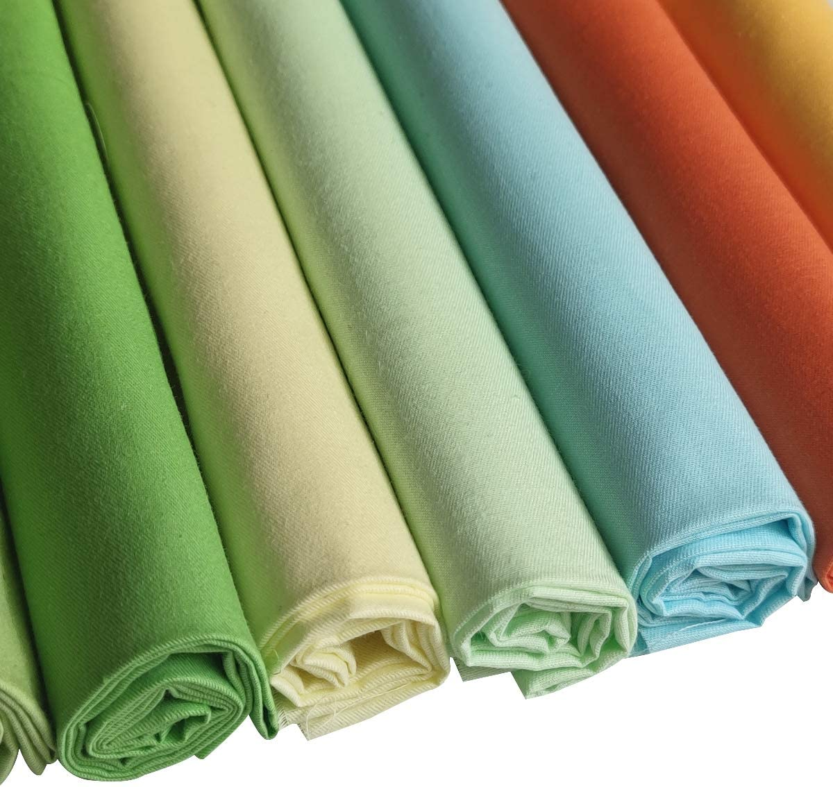 CraftsDIY Cotton Fabric Squares 46cm*56cm Patchwork Fabric Bundle Pre-Cut Squares for DIY Sewing Scrapbooking 7PCS Orange Yellow Fat Quarter