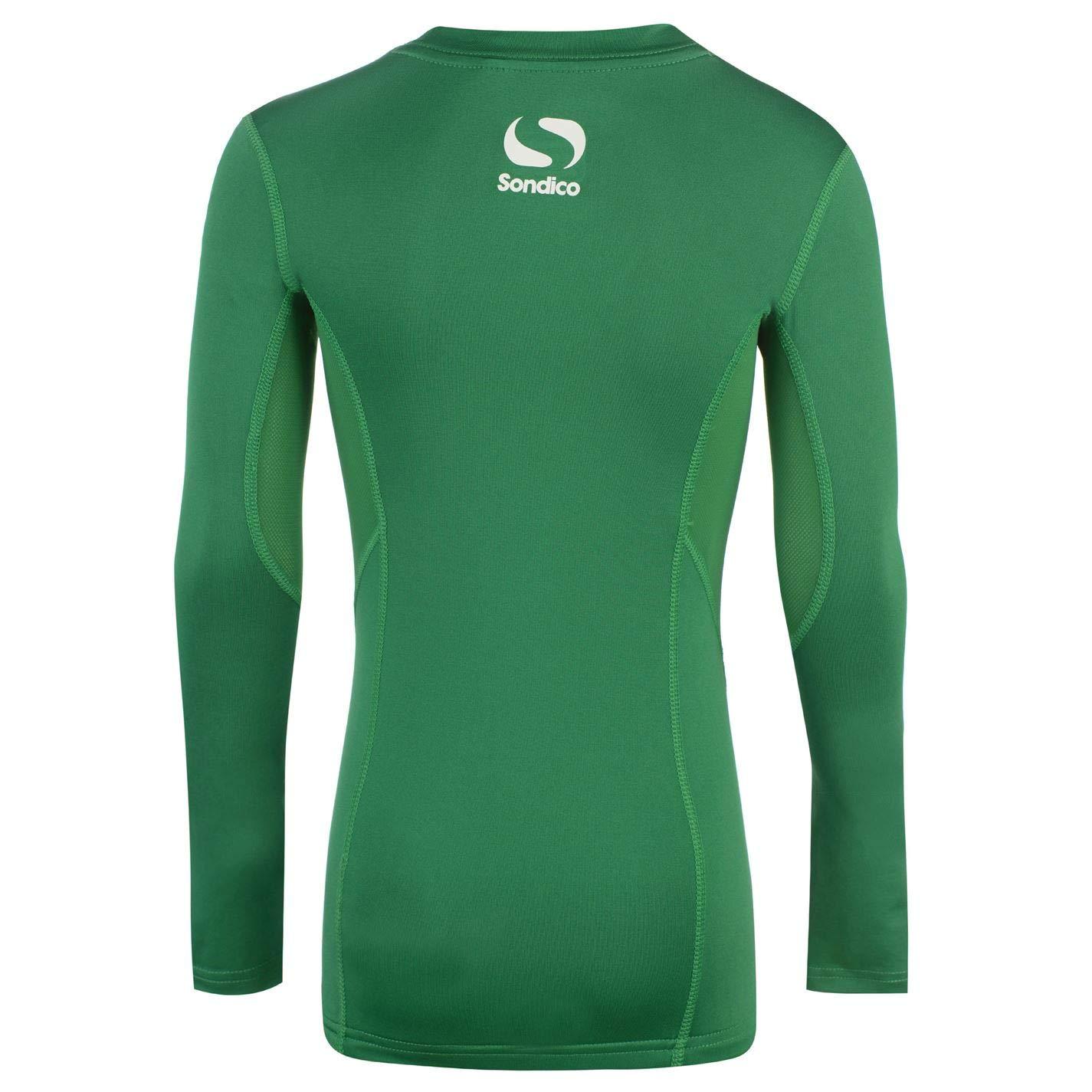 Sondico Kids Boys Long Sleeved Core Base Layer Junior Baselayer Top Compression Green 9-10 Yrs