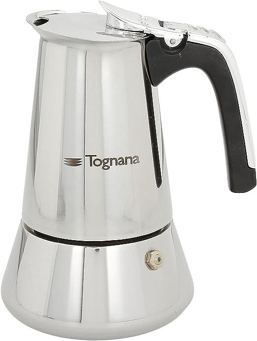 Tognana Riflex - Cafetera de inducción (2 tazas, acero inoxidable), color plateado: Amazon.es: Hogar