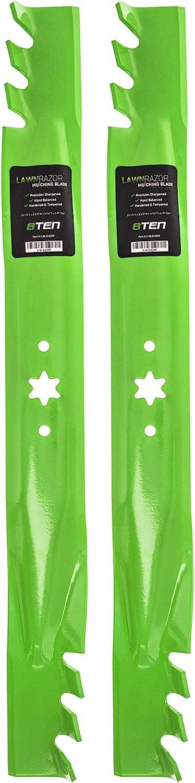 8TEN LawnRAZOR Mulching Blade for MTD Cub Cadet RZT L46 S46 942-04290 942-04244 742-04244 742-04290 2 Pack