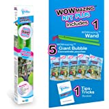 WOWMAZING Giant Bubbles Kit Plus - Great Value - Big Bubbles kit Including Big Bubble Wand and Giant Bubble Solution…