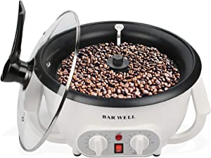 Coffee Roaster Machine with Timer, 110V Coffee Roaster for Home Use, Large 1200W Non-Stick Coffee Roasting Equipment for Peanut Nut Chestnuts