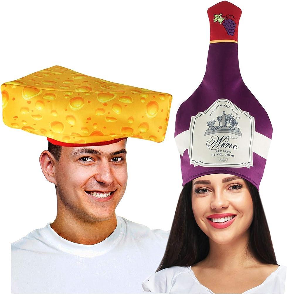 Tigerdoe - Disfraz para Parejas de Vino y Queso – Sombreros de ...
