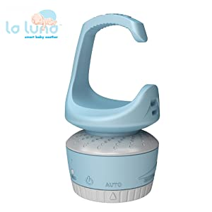 La Luna Smart Interactive Baby Soother, Shushing Sound and Custom Recording/Auto Activation with Cry Sensor, Auto Volume Increaser, Blue