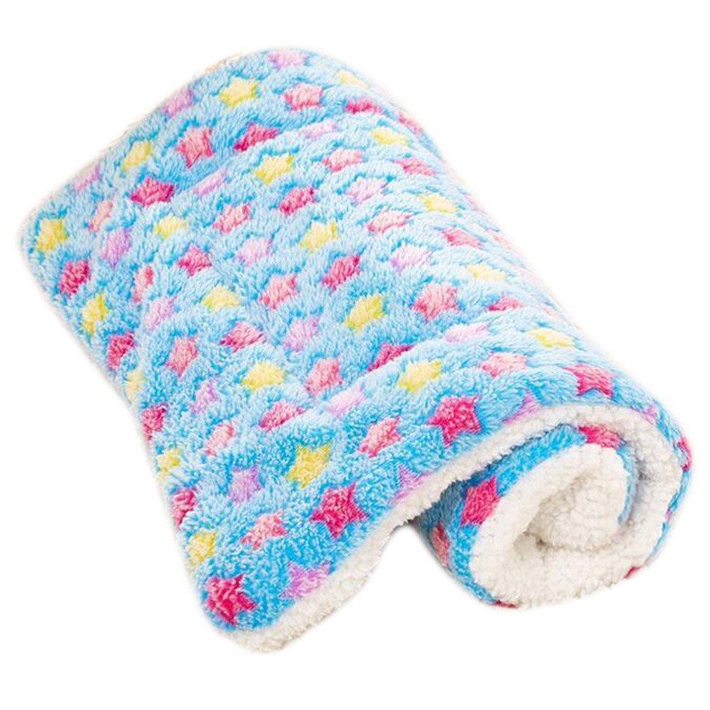 Super Softe und Warme Hundedecke Cozy Pet bett Matte Star Print Hund Puppy Fleece Decke Kissen Matratze Tier Schlafdeck Geometrie) wyhweilong