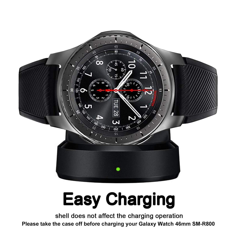 a Prueba de Golpes y Resistente a los Golpes para Samsung Gear S3 Frontier SM-R760 Plata Carcasa de TPU para Samsung Gear S3 Cerike