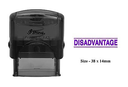 Amazon com : DISADVANTAGE Print Plastic Stamp Clear Print