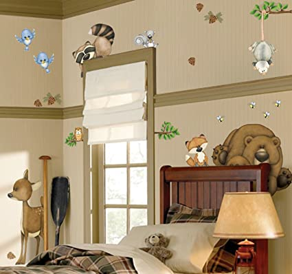 Amazon.com: In The Woods Wildlife Animal Stickers Wall Decals ...