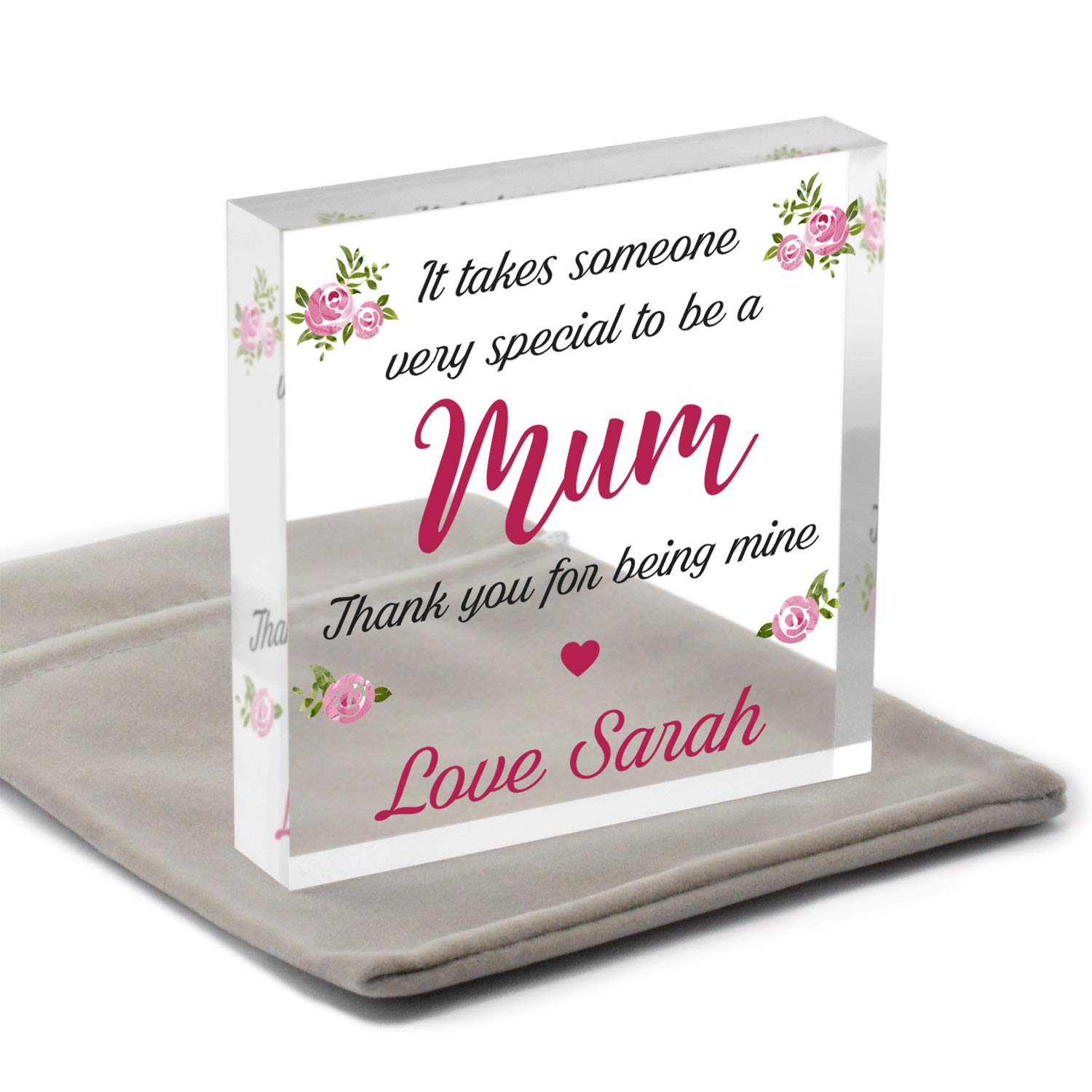 Auntie PERSONALISED Mothers Day Gifts for Mummy Sister Nanna Nan With Grey Bag Christmas Gifts for Mum Mum Gifts for Birthday Granny It Takes Someone Special To Be A Mum Gifts