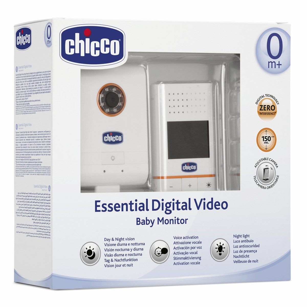 Baby monitor de video con visi/ón nocturna Chicco Essential Digital