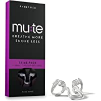Rhinomed Mute Anti Snoring Aid Solution, Nasal Dilator for Snore Reduction, Breathe Better, Sleep Aid, Comfortable Nose Vent, Assorted