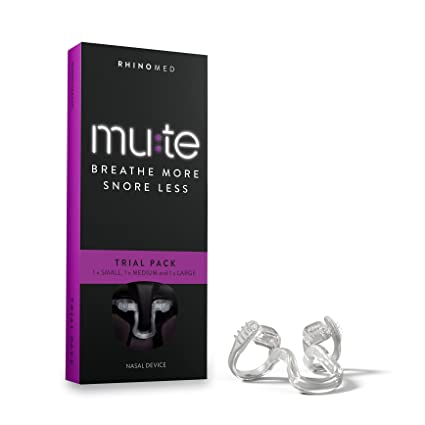 de8509e89ed5a2 Rhinomed Mute Anti Snoring Aid Solution, Nasal Dilator for Snore Reduction,  Breathe Better,