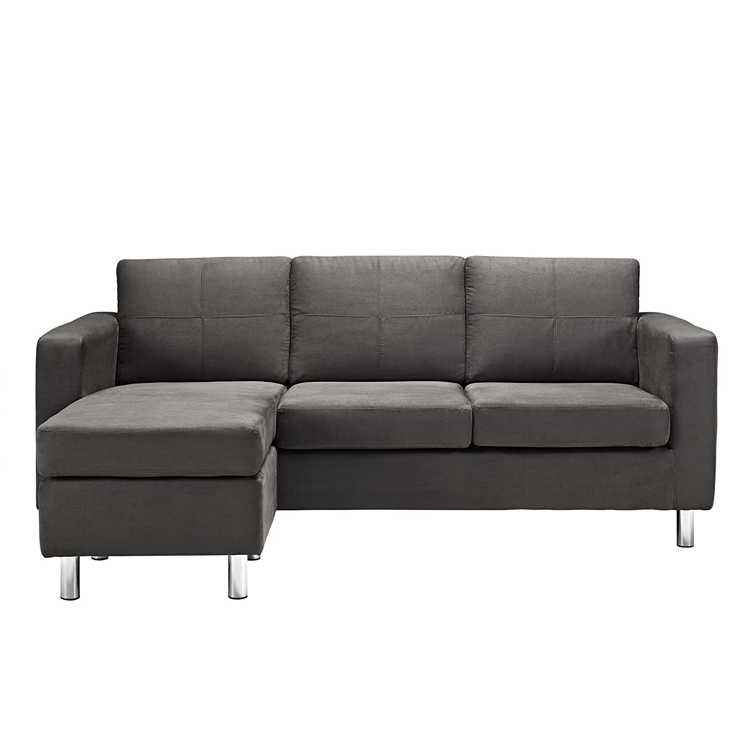 Etonnant Amazon.com: Dorel Living Small Spaces Configurable Sectional Sofa, Gray:  Kitchen U0026 Dining