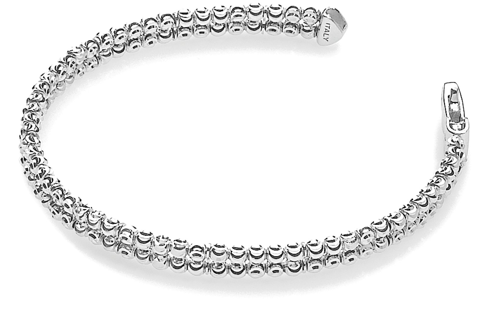 Officina Bernardi - Moon Collection - Two Row Bracelet (2 Color Choice) - Italian 925 Sterling Silver (sterling-silver, 8 Inches)