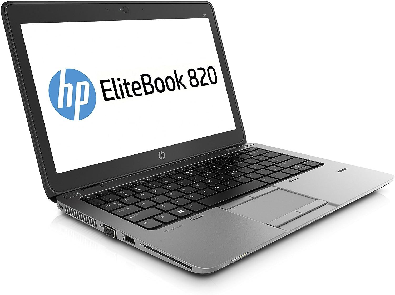 HP EliteBook 820 G1 12.5in Laptop, Core i5-4300U 1.9GHz, 4GB Ram, 500GB HDD, Windows 10 Pro 64bit (Renewed)
