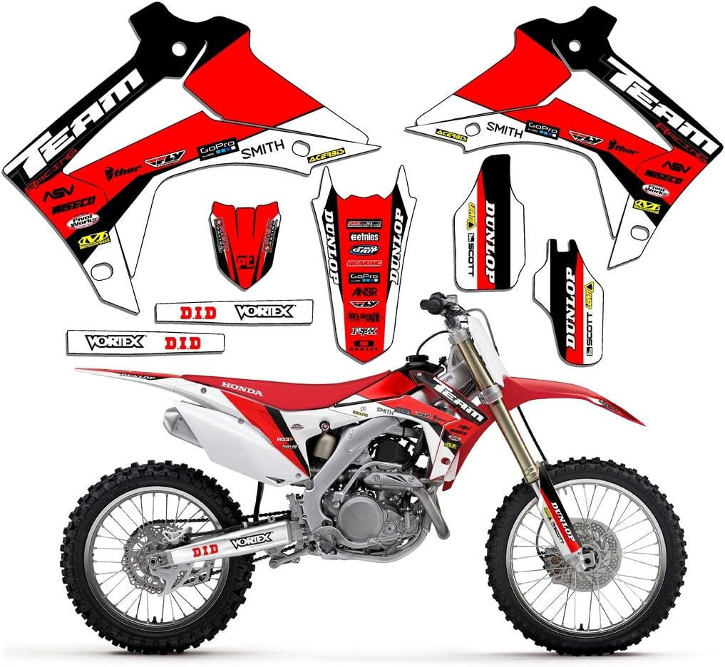 Team Racing Graphics kit compatible with Honda 1985-2000 XR 80//100 EVOLV