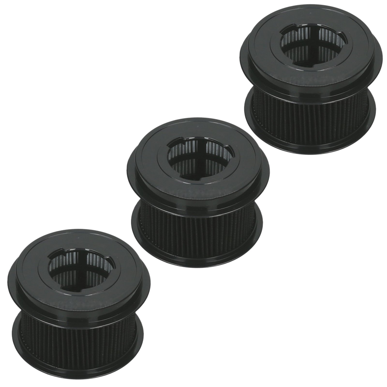 Spares2go Pleated Circular HEPA Filter for Bissell PowerForce CleanView Vacuum Cleaner (Pack of 3)