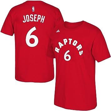 Adidas Cory Joseph de los Toronto Raptors de la NBA Nombre y número Camiseta - Rojo, Large: Amazon.es: Deportes y aire libre
