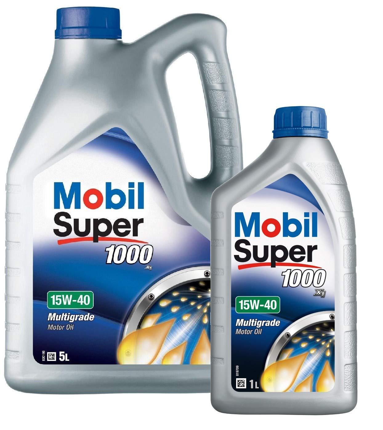 Mobil 151180 Super 1000 X1 - Aceite de Motor 15W-40, Pack 6 litros ...