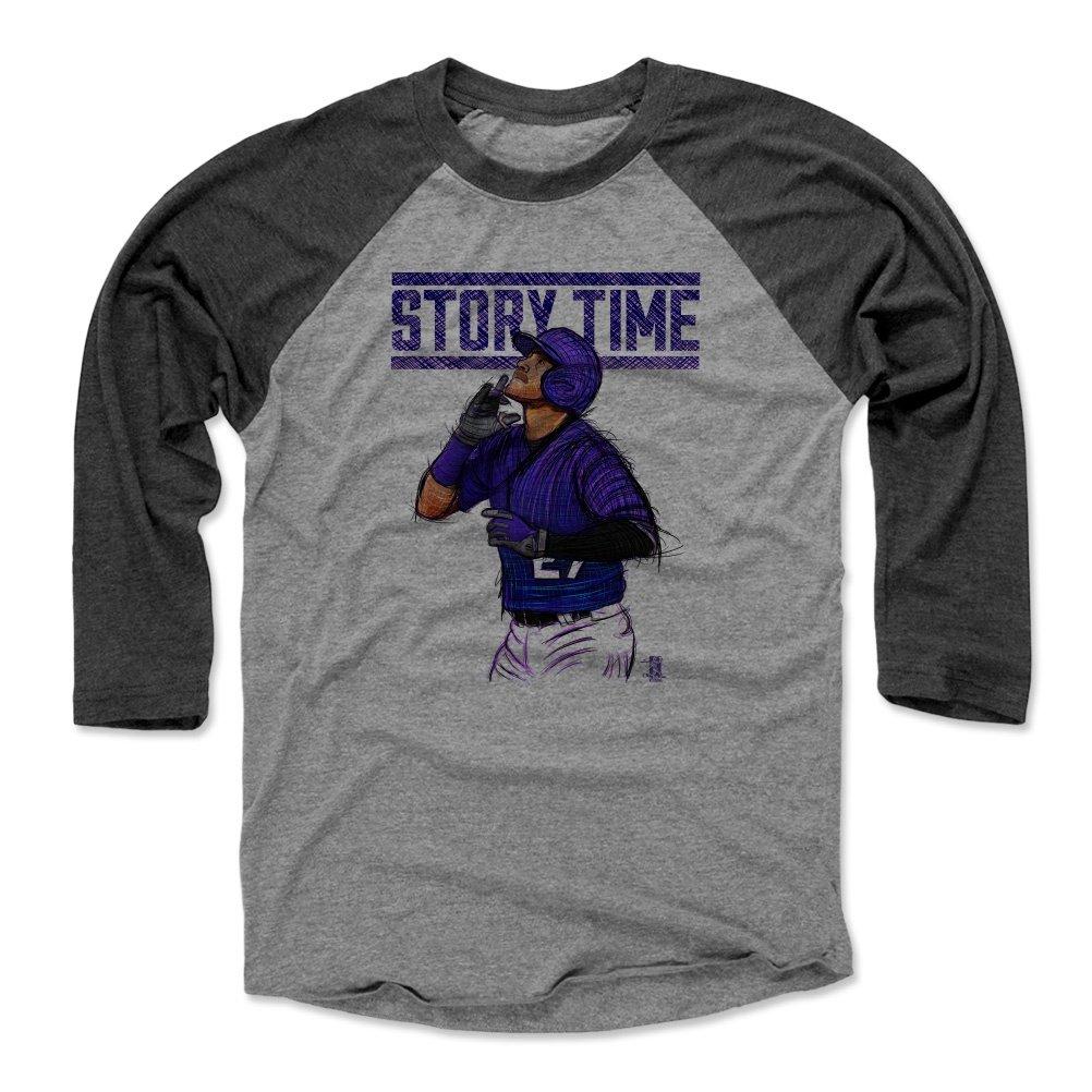 500レベルのTrevorストーリー3 / 4th野球Tシャツ – コロラド野球ファンギア – Trevor Story Time P B07DVY3XMH Black / Heather Gray Large