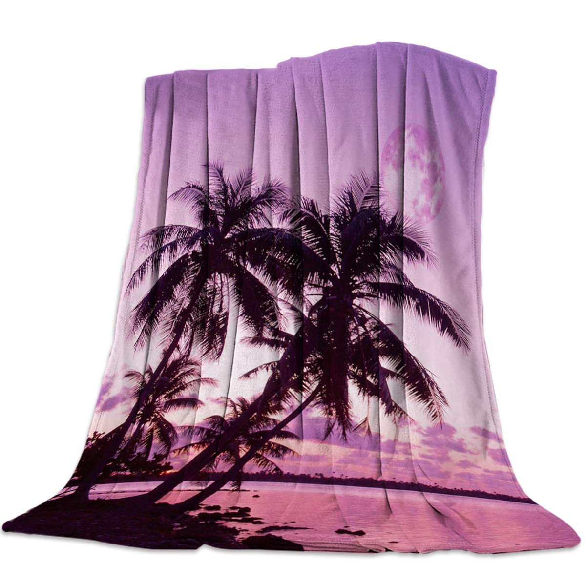Coconut Beach15yag3688 39x49inch=100x125cm YEHO Art Gallery 49x59 Inch Flannel Fleece Bed Blanket Soft ThrowBlankets for Girls Boys,3D Horse Running in The Prairie,Cozy Lightweight Blankets for Bedroom Living Room Sofa Couch