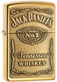 Zippo 1350003 Jack Daniel's Label Brass - Mechero con relieve