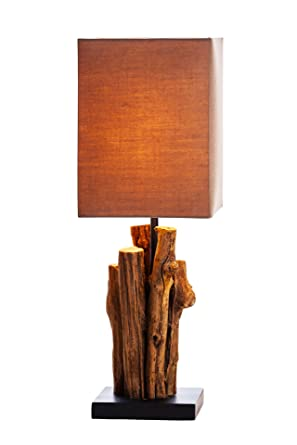 NPD Ou0027THENTIQUE Driftwood Table Lamp 17 Inches | Natural Solid Rustic  Reclaimed Wood Stick
